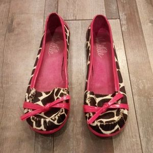 Volatile Animal Print Furry Shoes Size 8.5